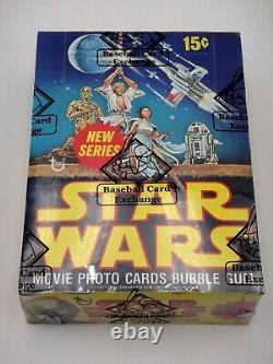 Original 1977 Topps Star Wars Series 2 Complete Wax Box Bbce Certified Authentic