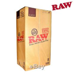 RAW Natural Cones Pre-Rolled King Size Box 1400 CERTIFIED RAW Re-seller