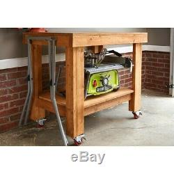 RYOBI 10 In. Table Saw with Folding Stand new tool (Open Box) factory certified